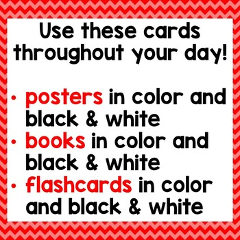 Positional Word Cards