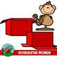 Positional Word Clip art
