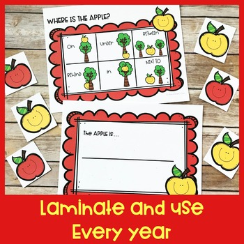 Positional Word Game | Apple | Special Education and Autism Resource