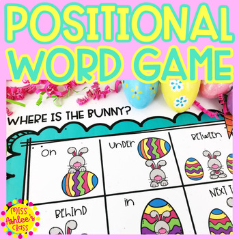 Positional Word Game | Special Education and Autism Resource | Easter