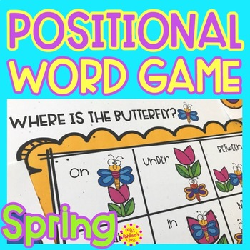 Positional Word Game | Special Education and Autism Resource | Spring