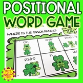 Positional Word Game   Special Education and Autism Resource   St. Patrick's Day