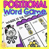 Positional Word Game | Special Education and Autism Resource | Zebra