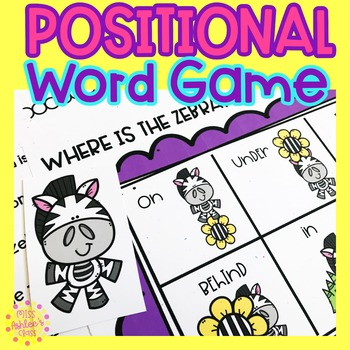 Positional Word Game   Special Education and Autism Resource   Zebra