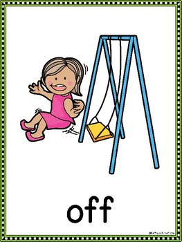 Positional Word Posters And Cards (Prepositions)