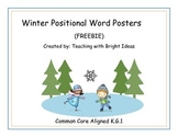 Positional Word Posters for Winter