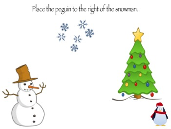 Positional Word Review - Holiday Themed Interactive Lesson