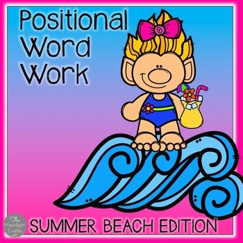Positional Word Work Beach Themed