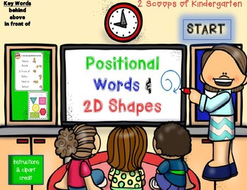 Positional Words & 2D Shapes Power Point Game