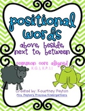 Positional Words (Above, Beside, Next To, Between) Common Core