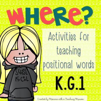 Positional Words Activities K.G.1