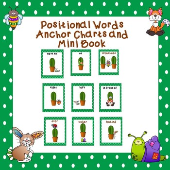 Positional Words Anchor Charts and Mini Book
