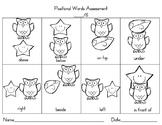 Positional Words Assessment Freebie