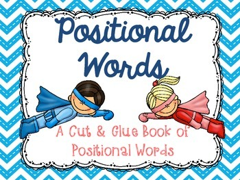 Positional Words Book - FREEBIE