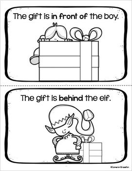 Positional Words Christmas Holiday Emergent Reader Sight Words The Gift Is