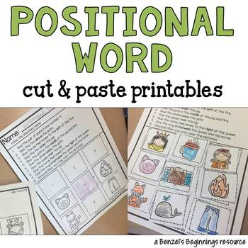 Positional Words Worksheets Teaching Resources | Teachers Pay Teachers