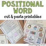 Positional Words Cut & Paste!