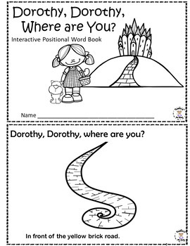 Positional Words - Dorothy, Dorothy Where Are You?