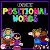 Positional Words Flash Cards {FREE}