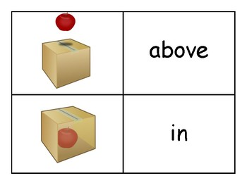 Positional Words Flashcards