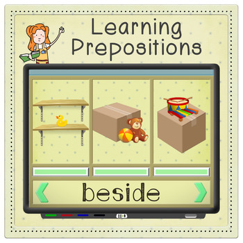 Kindergarten Positional Words Game | Interactive Whiteboard or Tablets
