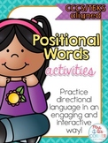 Positional Words Game and Activity { CCSS and TEKS aligned }