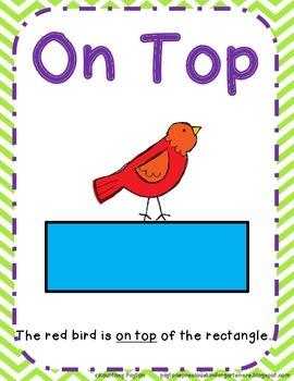 positional words in front on top below under common core by