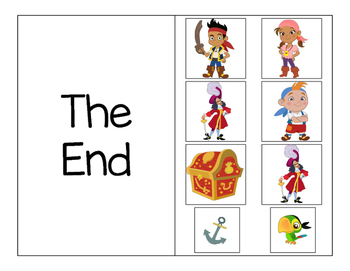 Jake the Pirate Positional Words Adapted Book