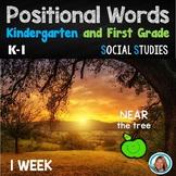 Positional Words Kindergarten and 1st Grade Activities Unit