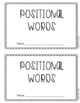 Positional Words Little Book