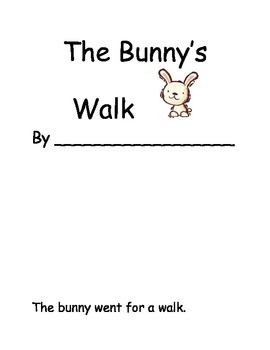 """Positional Words Math Fun Booklet Activity- """"The Bunny's Walk"""""""
