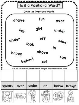 Positional Words: Games, Bingo & Activities