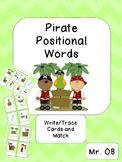 Positional Words Pirate Activities