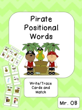Positional Words Pirate Activities