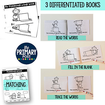 Positional Words Posters and Books