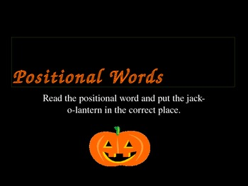 Positional Words Power Point