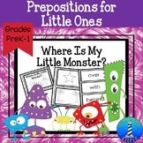 Positional Words (Prepositions) Booklet for Primary Grades
