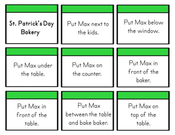 St. Patrick's Day Prepositions (Positional Words)