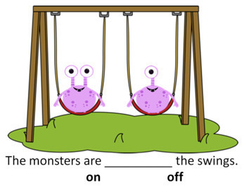 Positional Words Presentation with Monsters