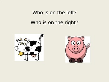 Positional Words Right and Left