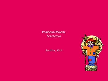 Positional Words Scarecrow Directions