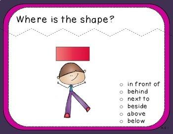 Positional Words Teacher Slides (Kindergarten, K.G.1)