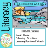 Positional Words Tide Pools  Activity Mats