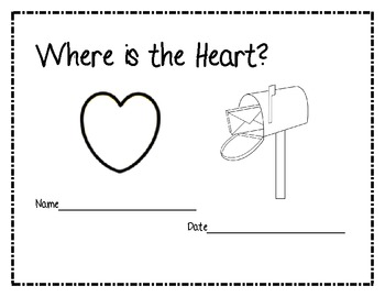 Positional Words:  Where is the Heart? PDF (Black lined masters)