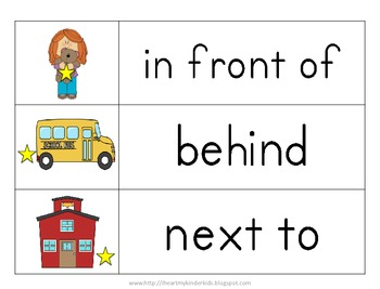 Farm Positional Words Worksheets for Kindergarten
