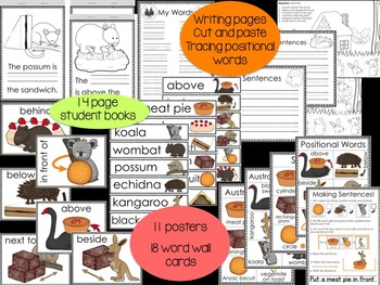 Positional Words and Sentences: Australian Food and Animal Prepositions