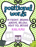 Positional Words (in front, behind, above, below, next to,