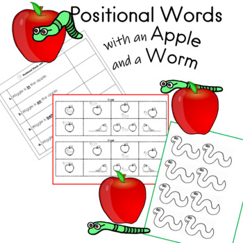 Positional Words with an Apple and a Worm