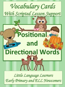 ESL Vocabulary-Positional and Directional Cards-Early Primary and ESL Newcomers