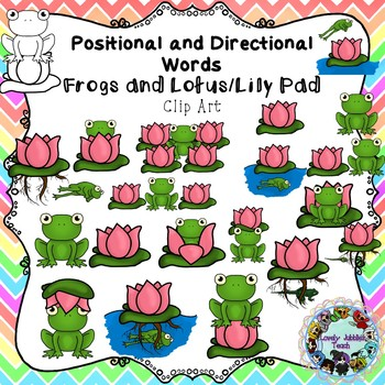Positional and Directional Words Clip Art: Frog and Lily Pad
